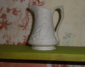 jug shabby chic historical image white Portmeiron British Heritage Jug french decor decorative vase