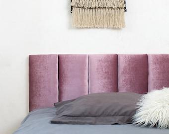 Purple VELVET Fabric Headboard Cushion, Queen Headboard, Full Size Headboard, Dorm Room Headboard, Montessori Headboard, Banquette Seating