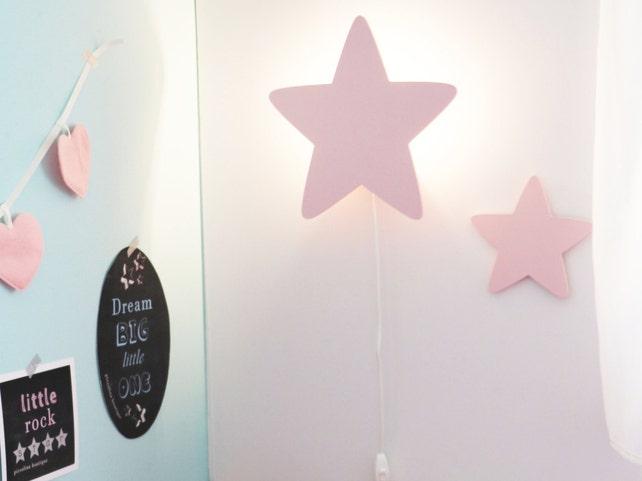 Sterne Nacht Licht Pastell rosa-sternförmigen führte Dekor   Etsy