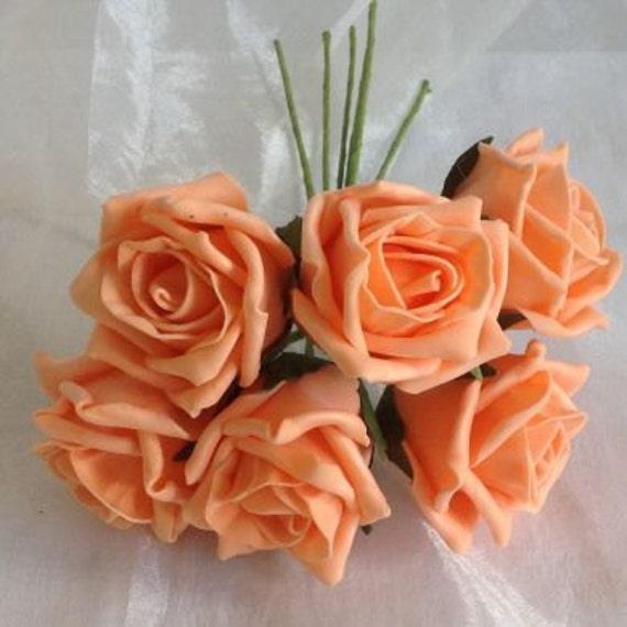 36 Stiele Kunstlichen Rosen Apricot Farben Mischen Etsy