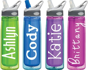 Name Decals for Personalized Water Bottles or Tumblers 2x4