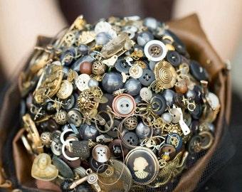 button bouquet steampunk