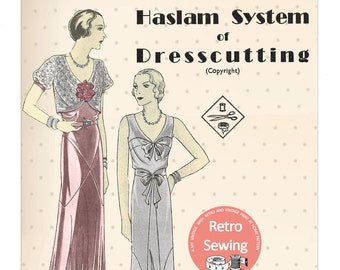 The Haslam System of Dresscutting  No. 9 - 1930's -  PDF Booklet Instant Download