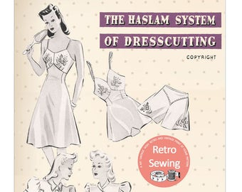 The Haslam System of Drescutting Lingerie No. 4 1940's - PDF Booklet Instant Download