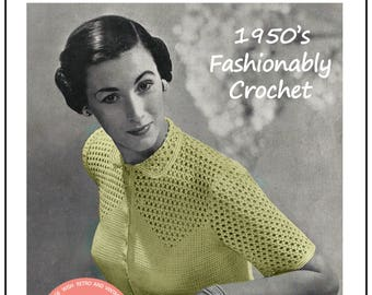 Crochet Blouse 1950s Vintage Pattern - PDF Crochet Pattern - PDF Instant Download