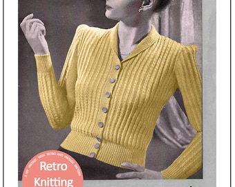 1940s Blouse Knitting Pattern - PDF Instant Download
