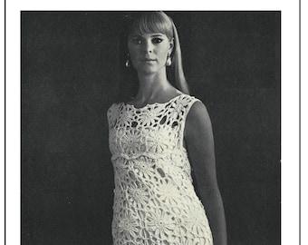 Crochet Dress 1960's Vintage Pattern - PDF Instant Download