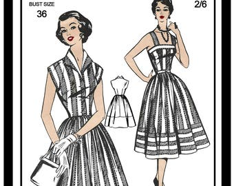 99b66df62d 1950s Sun Dress and Jacket Vintage Sewing Pattern - Paper Sewing Pattern -  Rockabilly