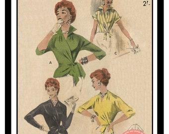 1950s Blouse Etsy