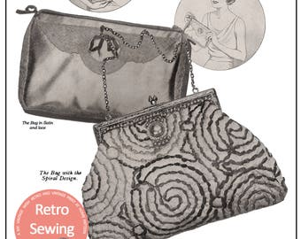 1930's Three Evening Bags Pattern and Instructions - PDF Pattern - Instant Download