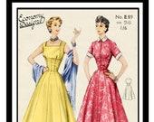 1950 39 s Summer Dress PDF Sewing Pattern - Rockabilly - Bust 36