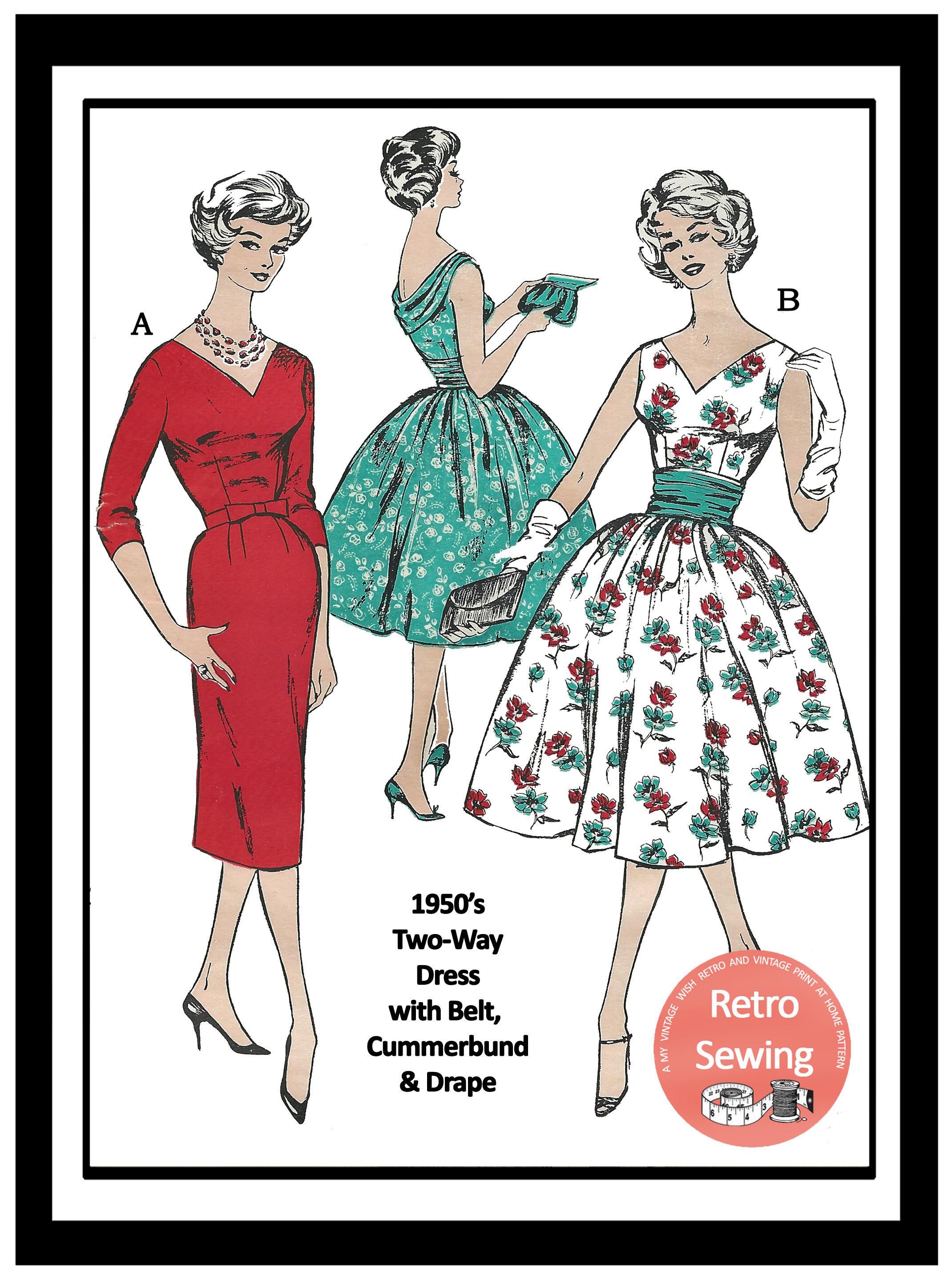 1950s Sun Dress and Bolero Reproduction Pattern Rockabilly