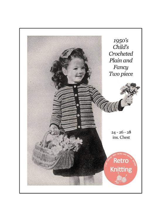Little Girl\'s Cardigan and Skirt Crochet Pattern - PDF Instant ...