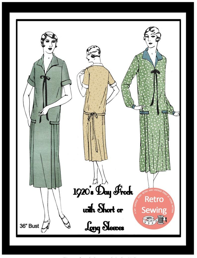 1920s Patterns – Vintage, Reproduction Sewing Patterns 1920s Day Frock Sewing Pattern - Paper Sewing Pattern $25.30 AT vintagedancer.com