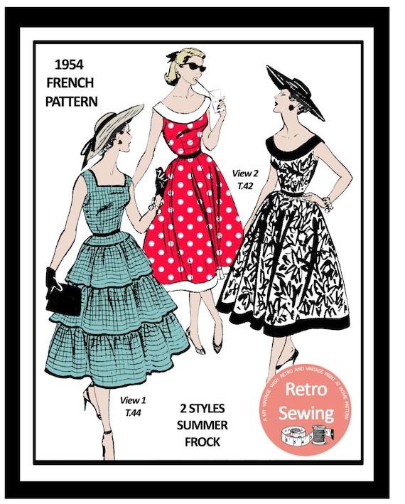 der 1950er Jahre zwei Sommer Kleider nähen Muster | Etsy