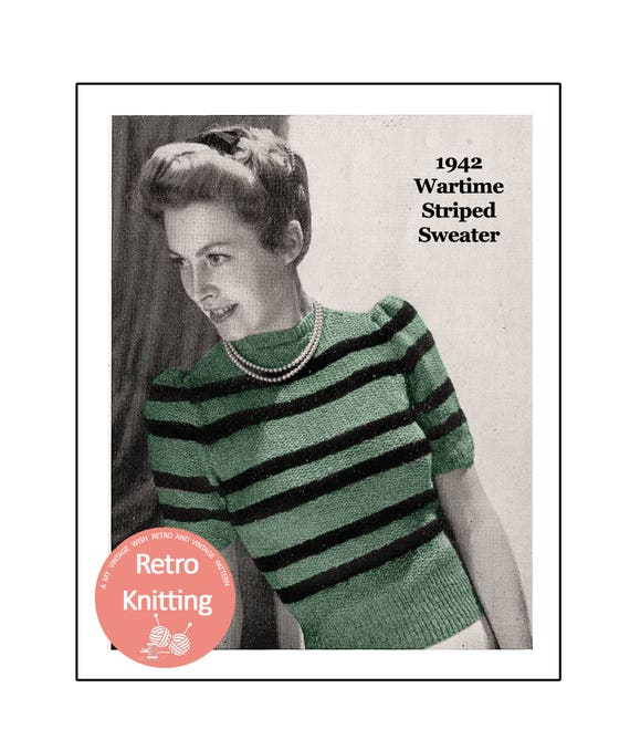 Vintage 1940s knitting pattern-how to make this pretty lace stitch ladies jumper