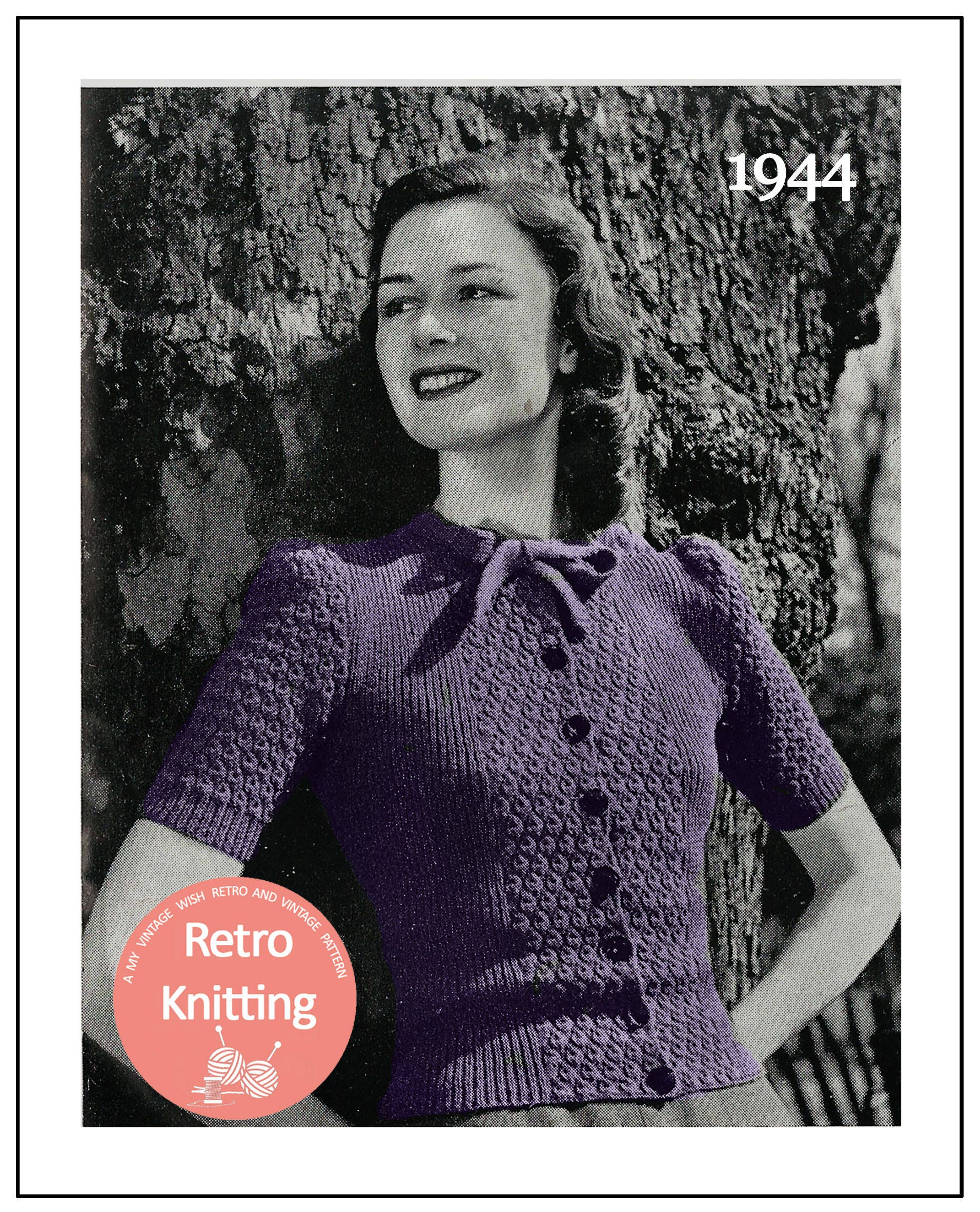 903463561d7d1c Pussy Bow Blouse 1940 s Vintage Knitting Pattern PDF