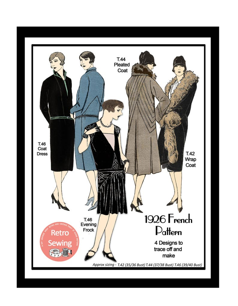 1920s Patterns – Vintage, Reproduction Sewing Patterns 1920s Flapper Frocks and Coats Vintage French Sewing Pattern - PDF Instant Download $9.37 AT vintagedancer.com