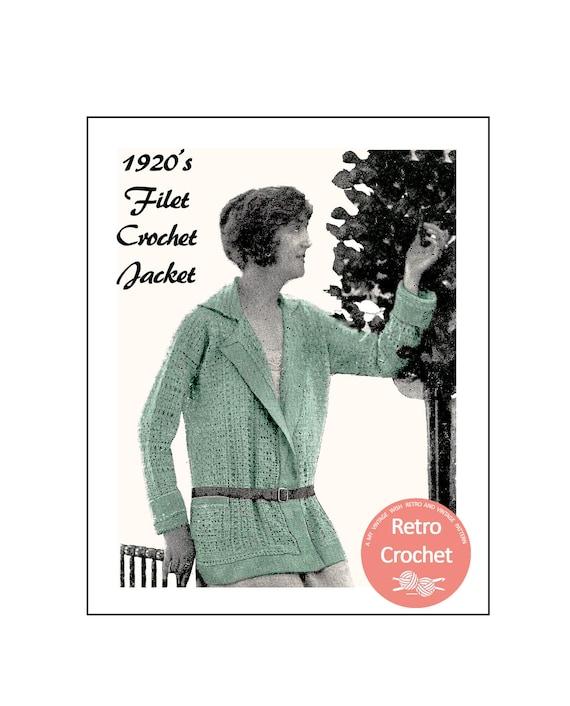 1920s Filet Crochet Jacket Vintage Knitting Pattern PDF | Etsy