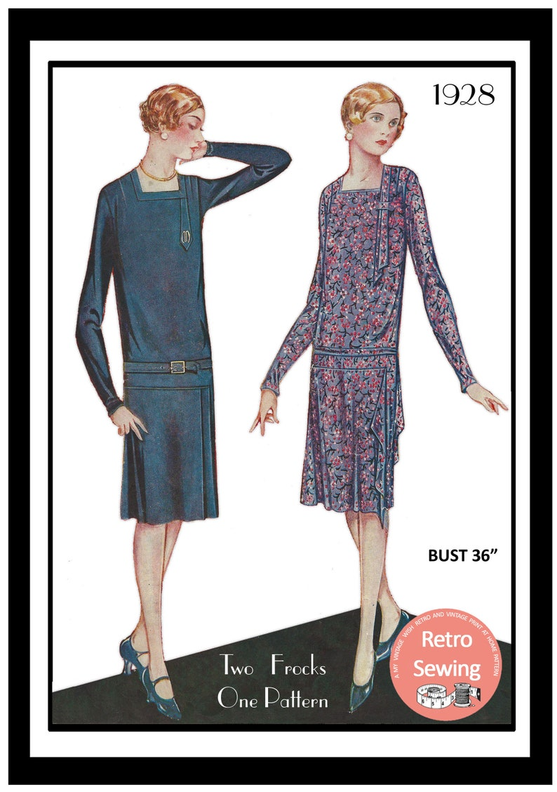 1920s Patterns – Vintage, Reproduction Sewing Patterns 1920s Flapper Afternoon/Coat Frock PDF Print at Home Sewing Pattern $14.02 AT vintagedancer.com