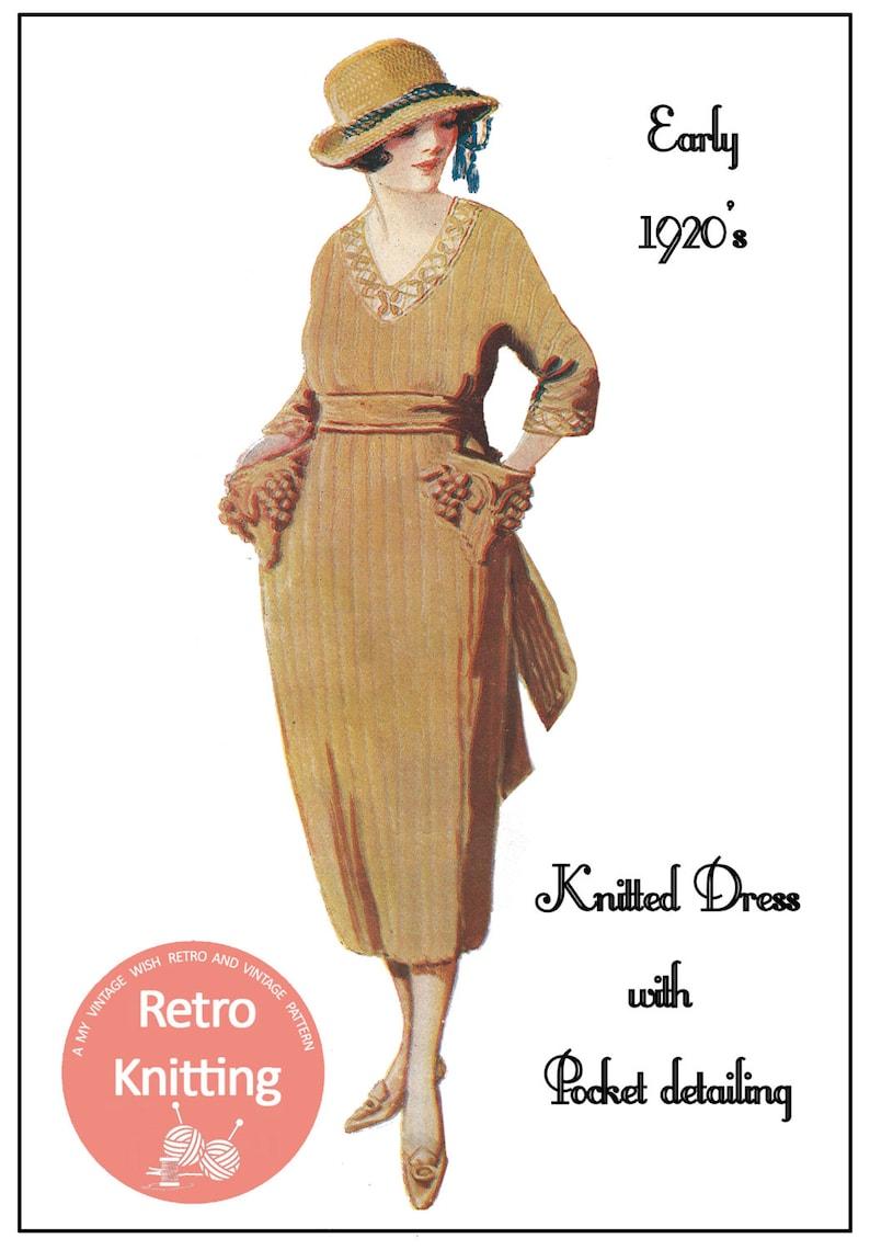 1920s Ribbed Dress Vintage Knitting Pattern PDF Instant | Etsy