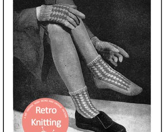1940s Womens Socks and Gloves -  PDF Knitting Pattern - PDF Instant Download
