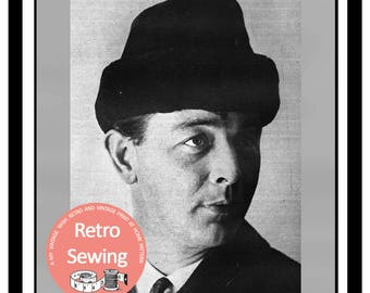 1960's Man's Cossack Hat - Vintage Sewing Pattern - PDF Sewing Pattern - PDF Instant Download