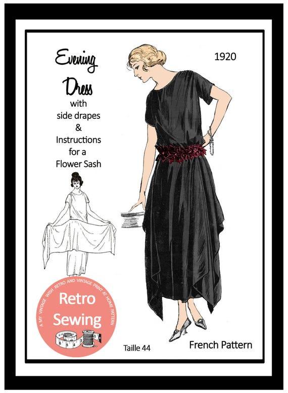 1920er Jahre Abendkleid Schnittmuster Papier-Version | Etsy