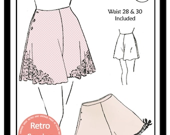 1940's Easy to Make French Knickers Sewing Pattern Ready printed Pattern in 2 sizes