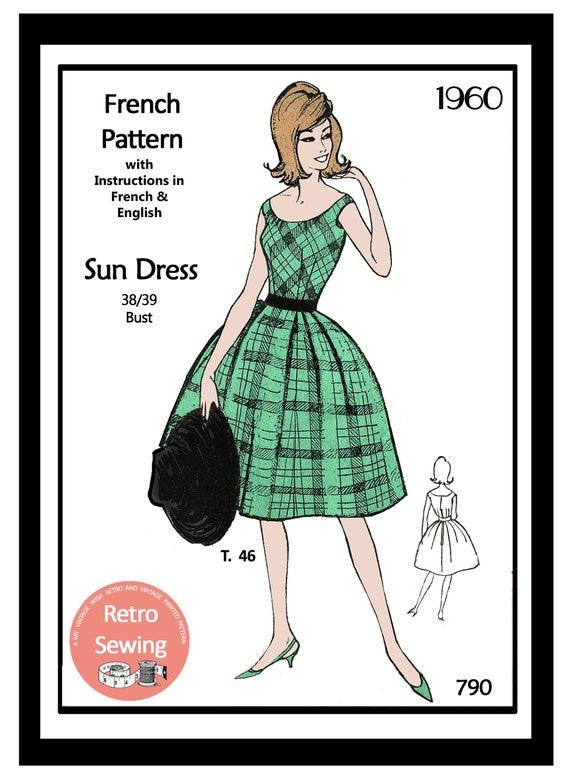 1960s Sun Dress Vintage Sewing Pattern Rockabilly Pin Up | Etsy