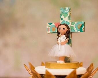 Einzigartige Kuchen-Topper, erste Heilige Kommunion.