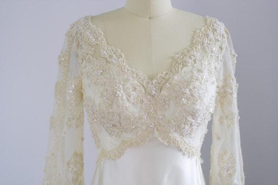 Priscilla of Boston wedding gown / 1970's / poet … - image 2