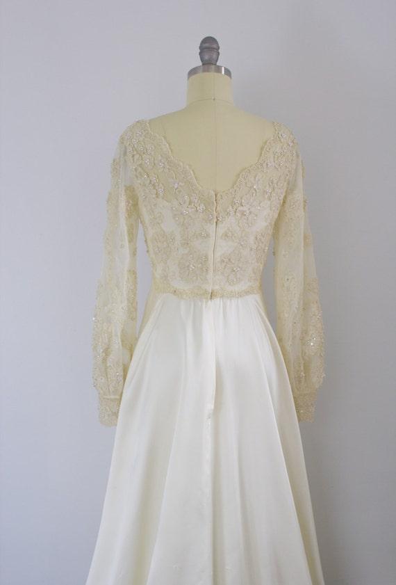 Priscilla of Boston wedding gown / 1970's / poet … - image 4