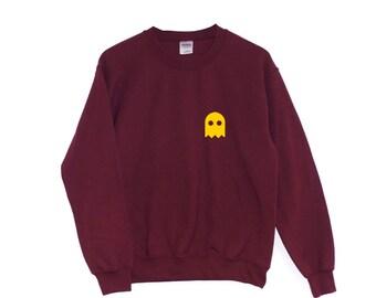 Ghost POCKETSWEATSHIRT Spooky Scary Halloween Costume Clothing