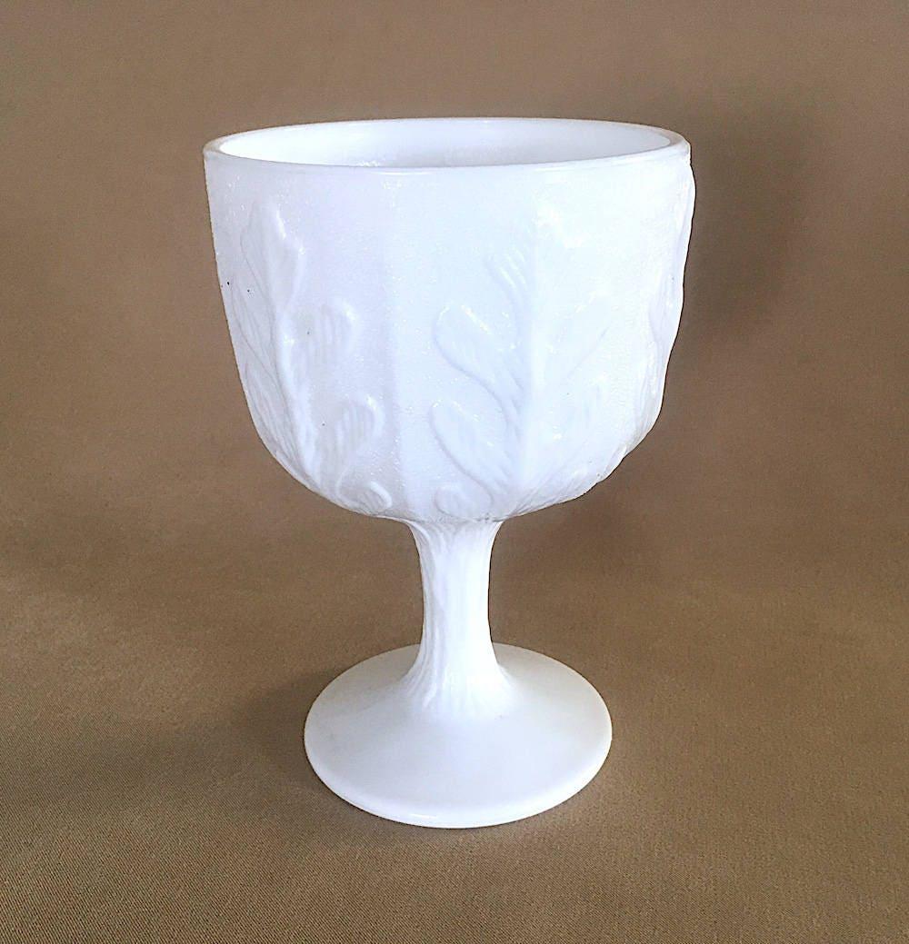 Vintage FTD Milk Glass Pedestal Vase