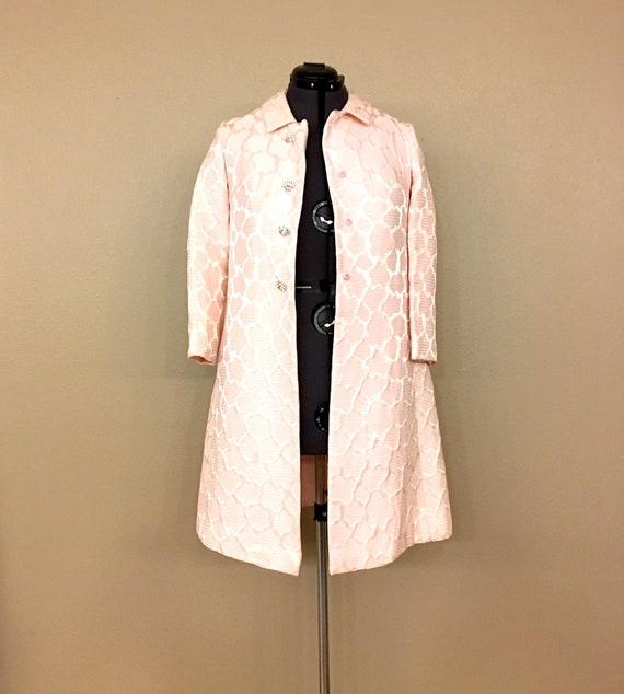 Vintage 1960's Damask Pink Evening Jacket, 1960's