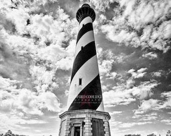 Cape Hatteras Lighthouse (Black & White Matte Print)