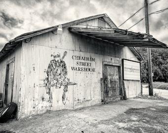 Cheatham Street Warehouse, San Marcos TX (B&W/Sepia Matte Print)