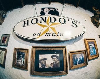 """Hondo's on Main, Fredericksburg, Texas (Color """"Split-Toned"""" Matte Print)"""