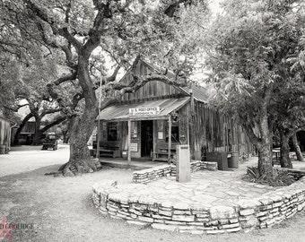 "Luckenbach, Texas (B&W ""platinum"" matte print)"