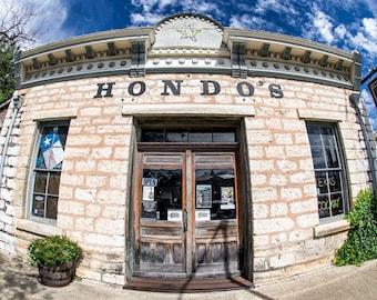 Hondo's on Main, Fredericksburg, Texas (Color Matte Print)