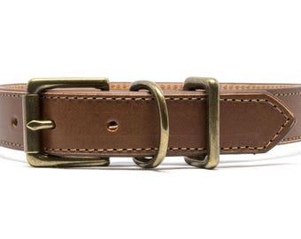 Italian Chestnut - Leather Dog Collar