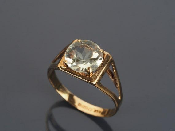 Natural Citrine ring, Vintage Citrine ring, Citrin