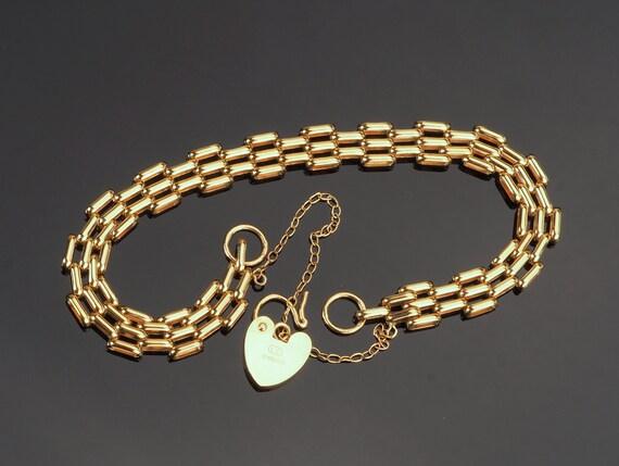 Antique gold bracelet, antique bracelet, vintage b