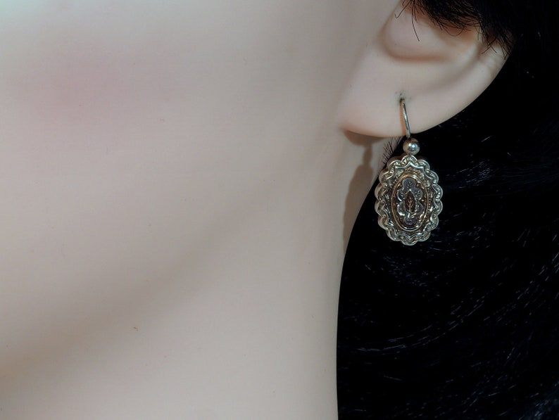 Antique Earrings with Gold Overlay Victorian Aesthetic Movement