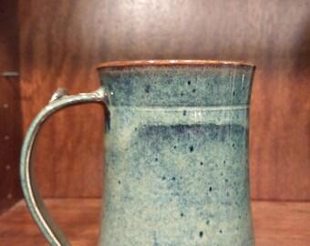 Clay Pottery Mug, large coffee mug, stoneware mug, ceramic mug, pottery mug, unique gift