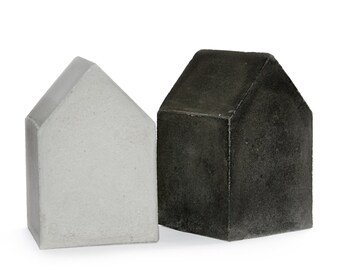 Concrete House Home Sweet Home Black Pigmented Beton Etsy