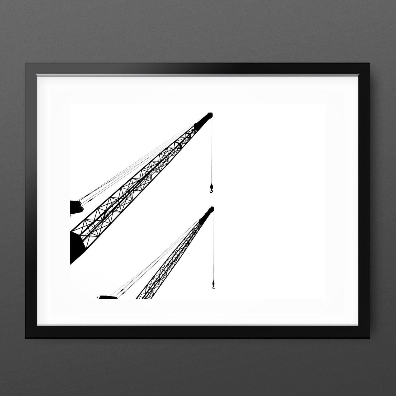 Mínimo fotografía \'Elegante Cranes\' abstracto   Etsy