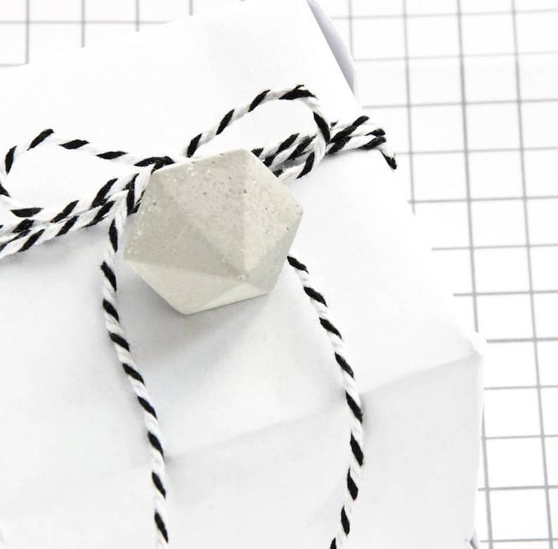 aa9f2300ef758 6 Gift Tag Concrete Diamond set of six mini concrete diamonds   Etsy