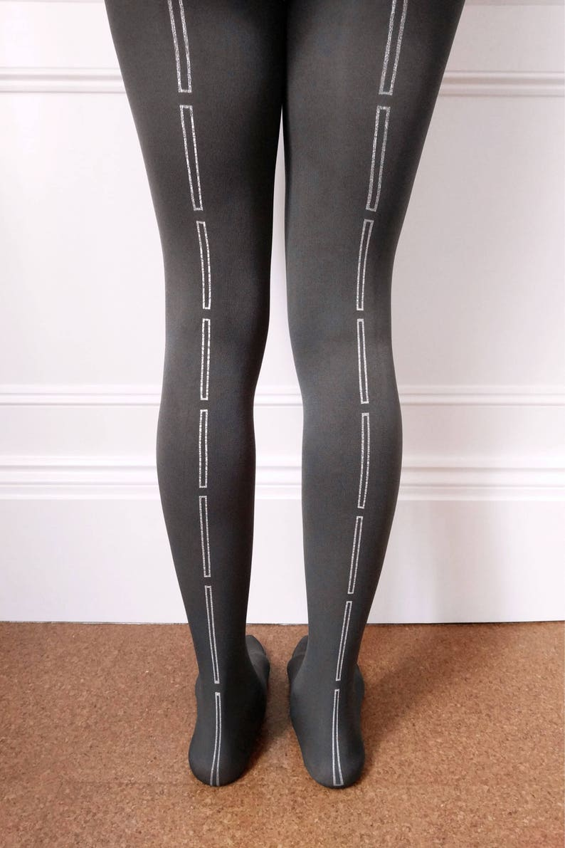 b934f1fb0 Hose. Tights   Hosiery for Women Grey Rectangle Tights